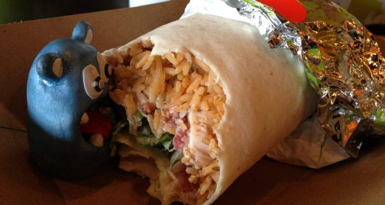 Bacon Chicken Club Burrito from California Tortilla