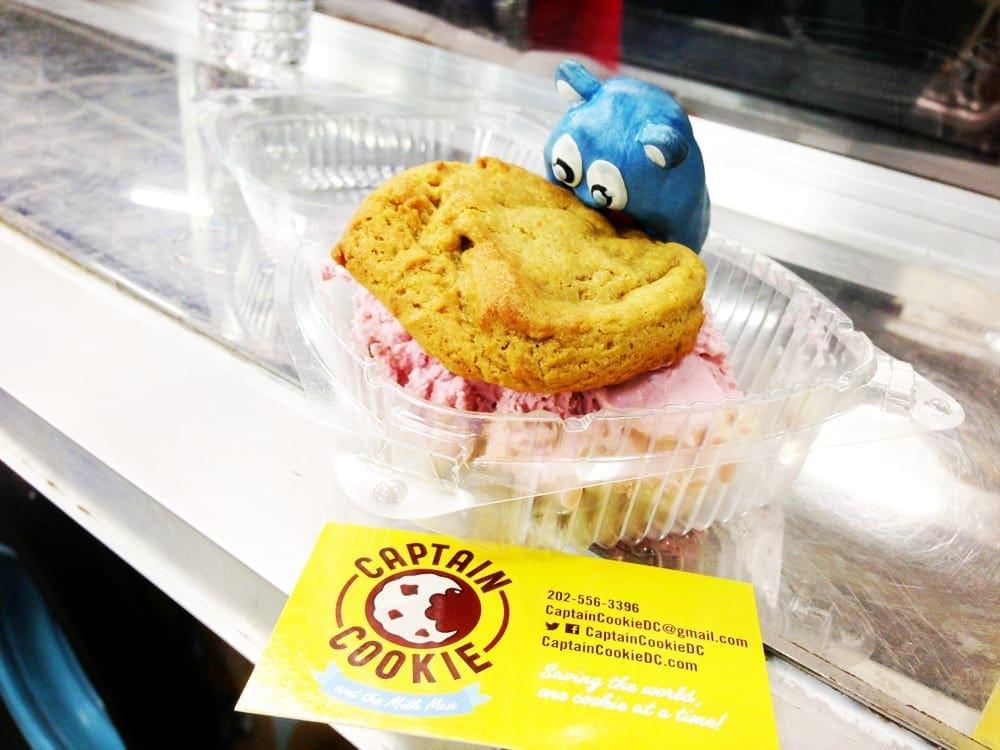 Black Cherry Ice Cream Sandwich $2 @ Captain Cookie Food Truck