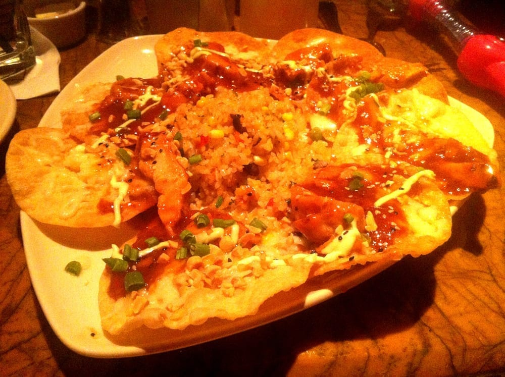 Asian Nachos from Grand Lux Cafe