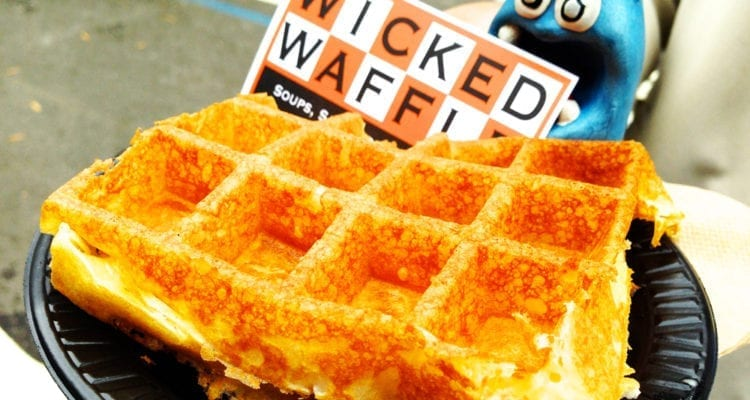 Bacon Grilled Cheese Waffle from WickedWaffle