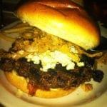 Bourbonzola Burger from Rock Bottom