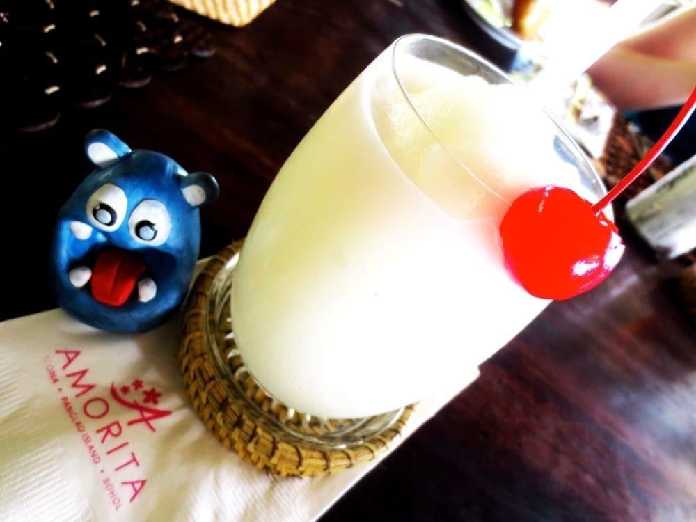 Buko Coconut Shake from Amorita Resort Bohol Philippines