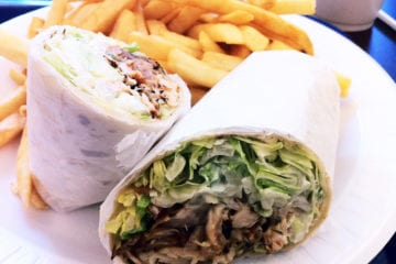 Kickin' Chicken Tortilla Wrap from Kickin Chicken