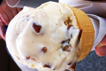 Pecan Icecream from Blue Moon Cafe Shepherdstown