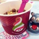Samoa Cookie FroYo from Menchie's Frozen Yogurt