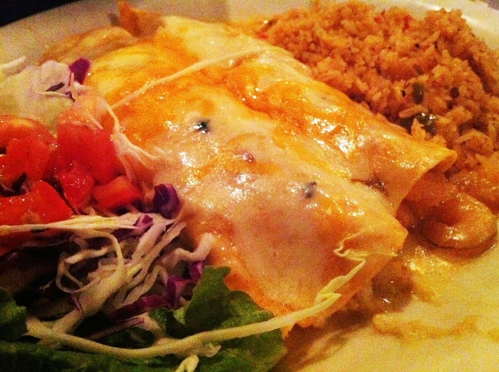 Shrimp & Lobster Enchiladas from Lauriol Plaza