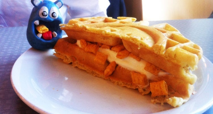 Waffle Captain Crunch Ice Cream Panini from University of Michigan