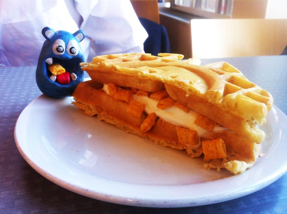 Waffle Captain Crunch Ice Cream Panini from University of Michigan