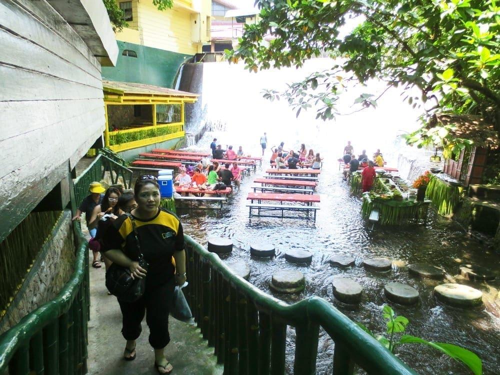 Waterfall Buffet at Villa Escudero Philippines