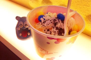 Coconut & Mango Froyo from Yogiberry