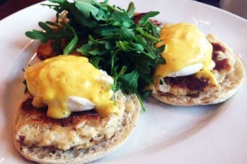 Crab Cake Eggs Benedict from McGinty's
