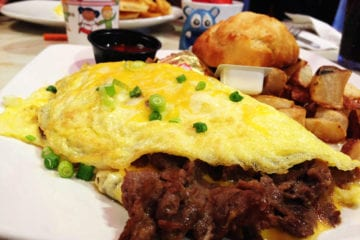 Philly Steak Omelete @ Silver Diner Rockville