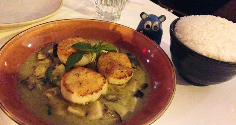 Seared Scallops in Green Curry @ Doi Moi DC