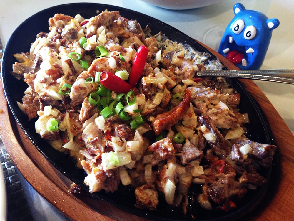 Sizzling Pork Sisig $15 @ Patio Filipino San Francisco