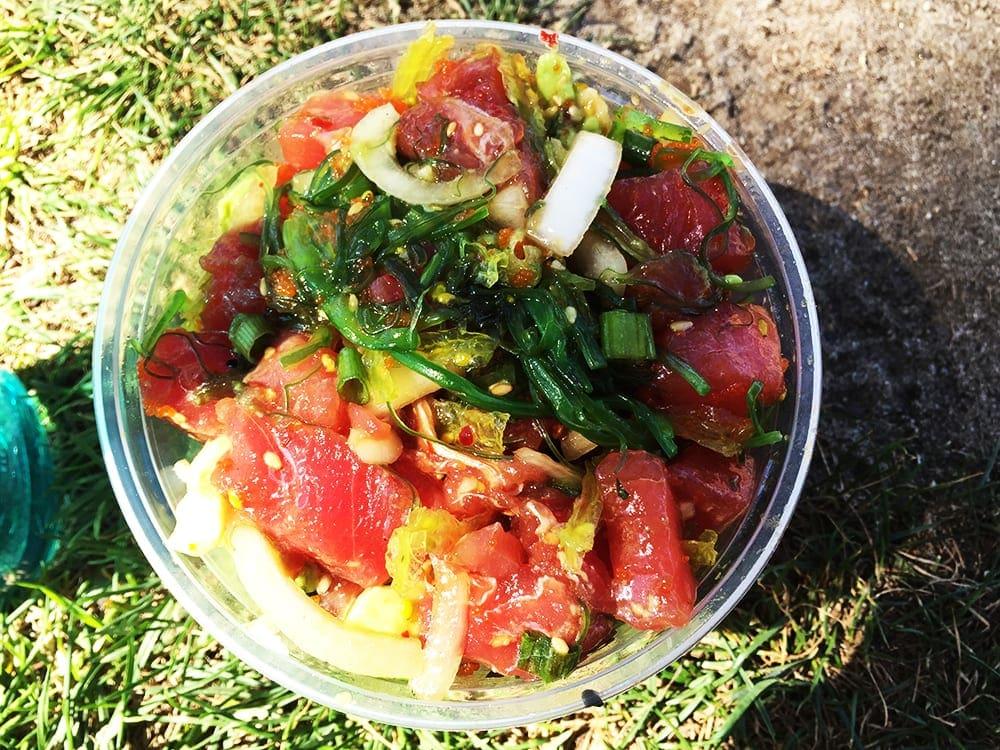 Spicy Tuna Poke Bowl @ Poke Poke Venice Beach California