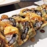 Tempura Bagel Sushi Roll $13 @ Cho Oishi Los Angeles California