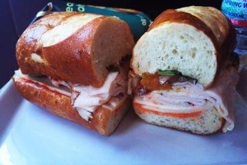 Airline Lunch Turkey Sandwich @ Virgin America