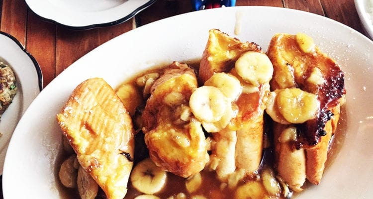 Bananas Foster French Toast $10 @ Khyber Pass Pub in Philadelphia