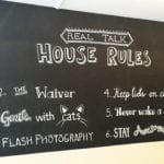 House Rules Crumbs & Whiskers Cat Cafe