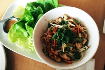 Thai Chicken Lettuce Wraps Tapas $13 @ Continental in Philadelphia