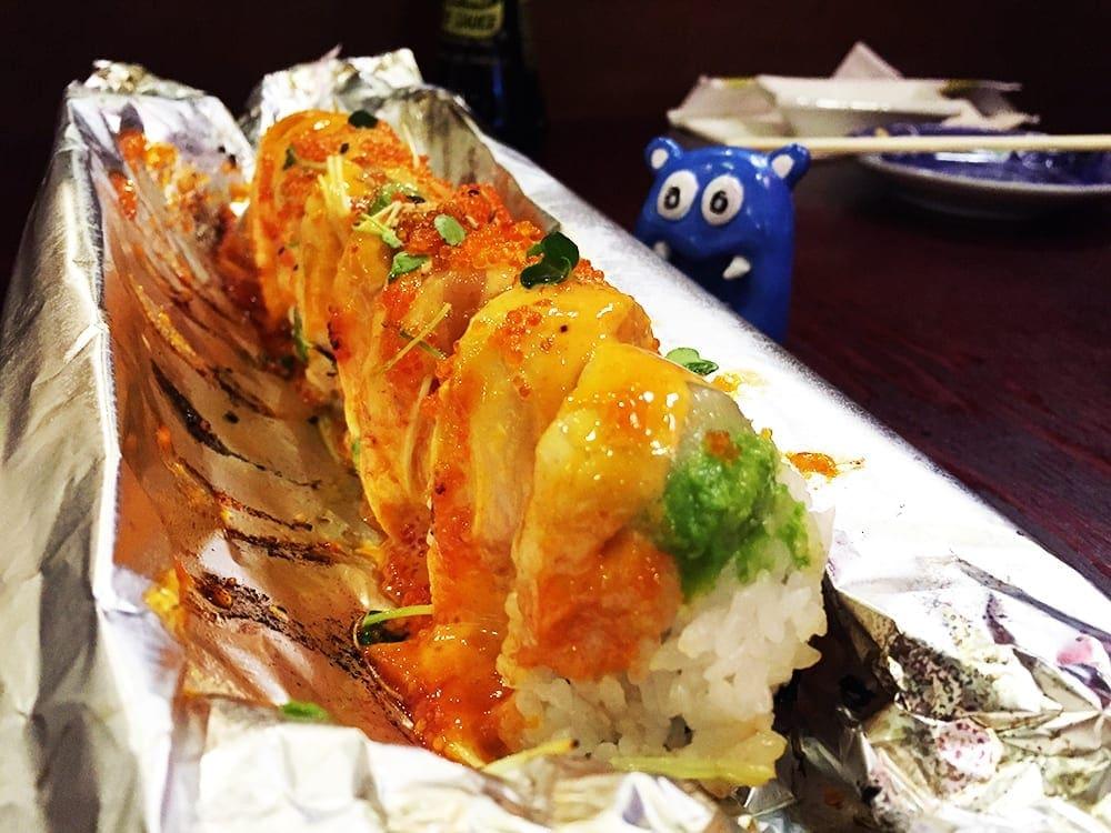 Flaming Dragon Sushi $14 @ Harumi Sushi in San Jose California