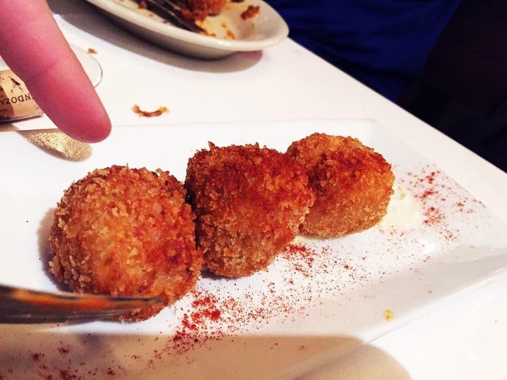 Chicken Jamon Croquettes Tapas $7 @ Barcelona Wine Bar in Reston Virginia
