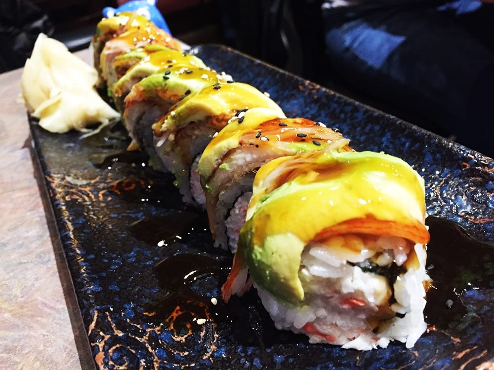 Super Dragon Sushi Roll $14 @ Sushi Plus in Redwood City California