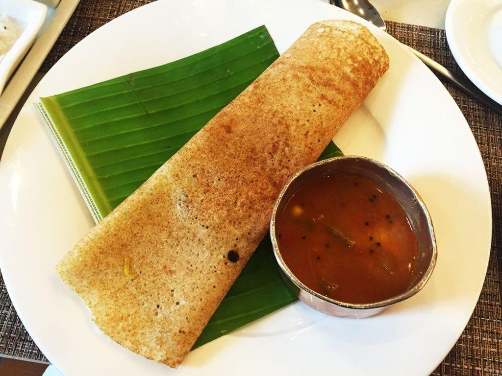 Breakfast Dosa @ Le Jardin Buffet at Oberoi Hotel in Bangalore India