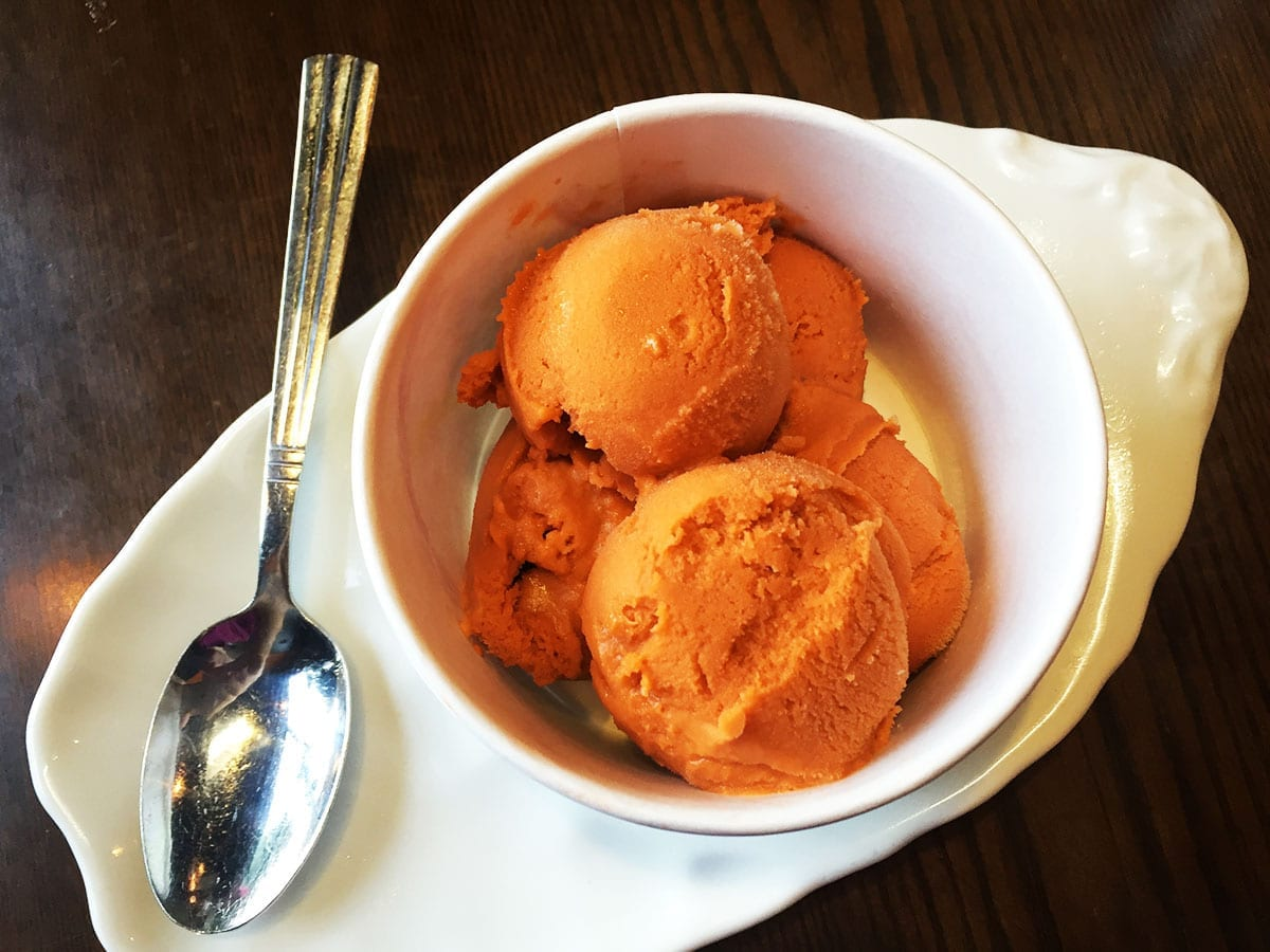 Homemade Thai Tea Ice Cream @ Charm Thai in Down Town Silver Spring, Maryland