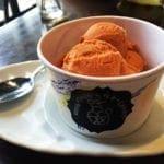 Homemade Thai Tea Ice Cream @ Charm Thai in Down Town Silver Spring, Maryland