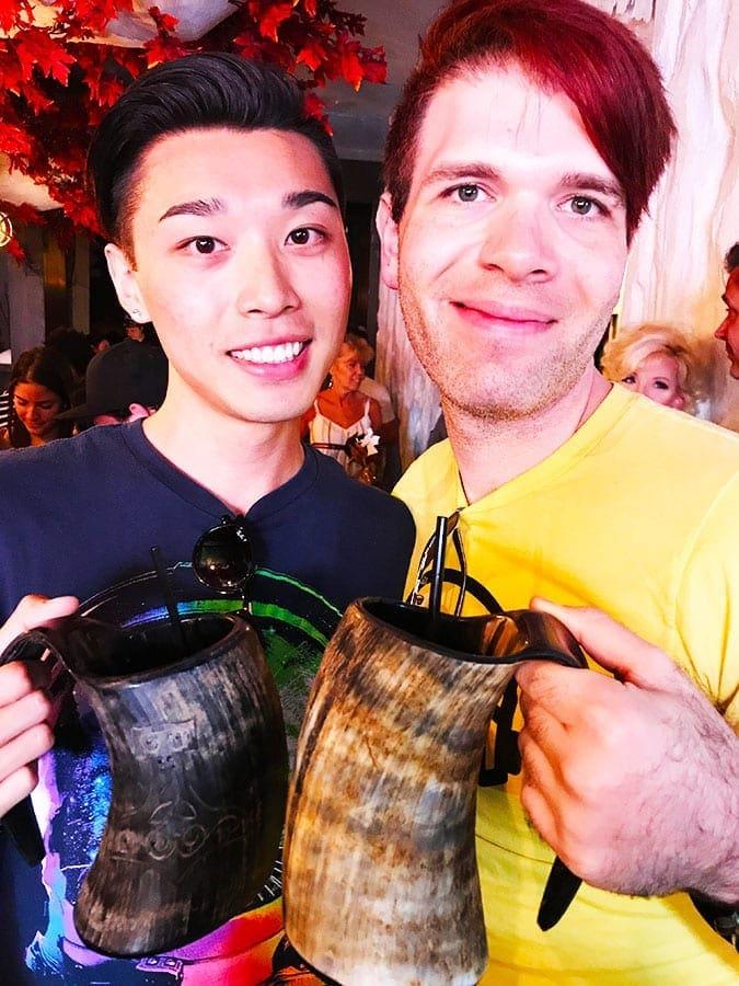 Boris Savitskiy and Rex You Wu at The Game of Thrones Bar