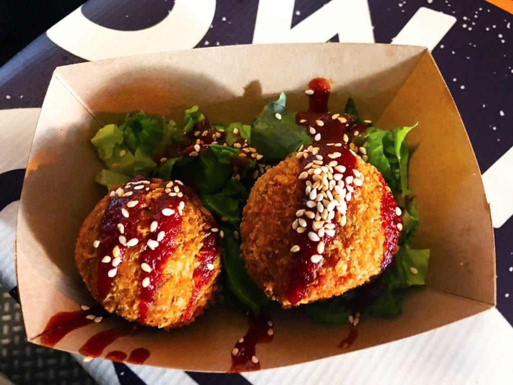 Vegan Mozzarella Balls from Pow Pow at Emporiyum in Union Market Washington DC