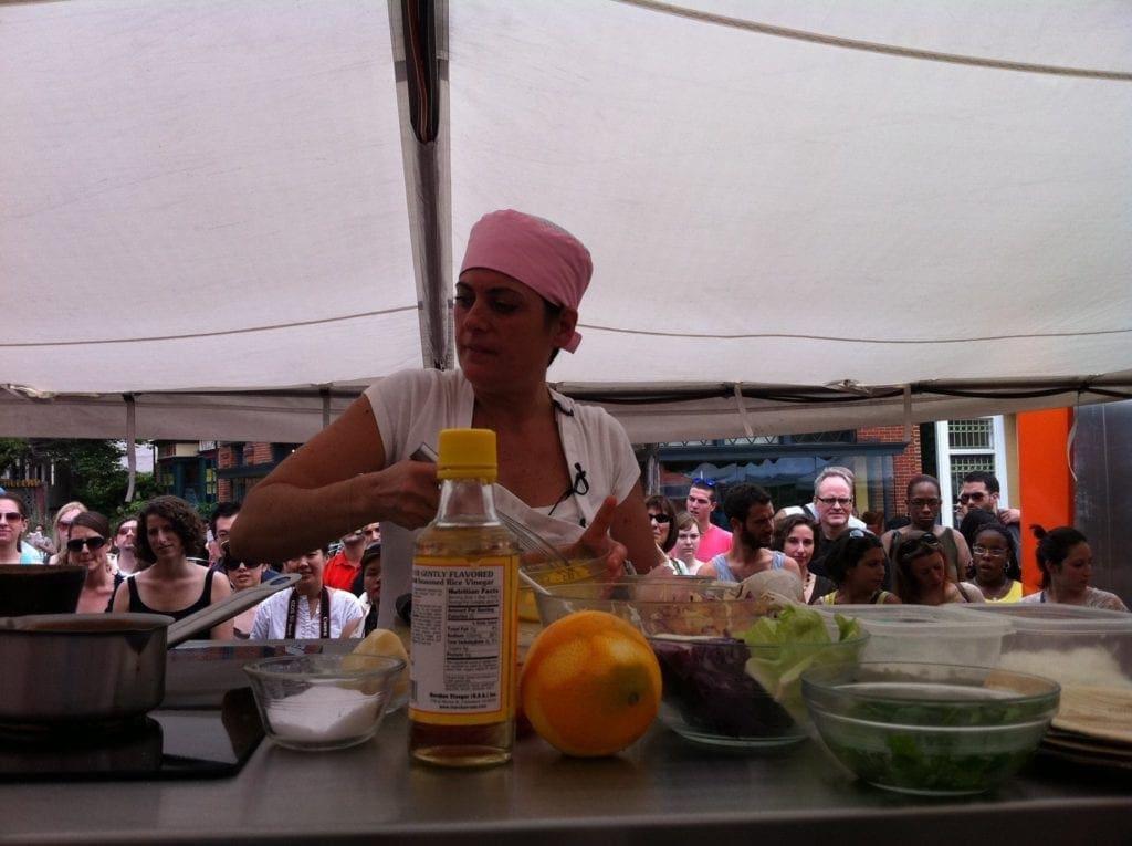 Chef Ariane Duarte at Top Chef Tour Eastern Market DC