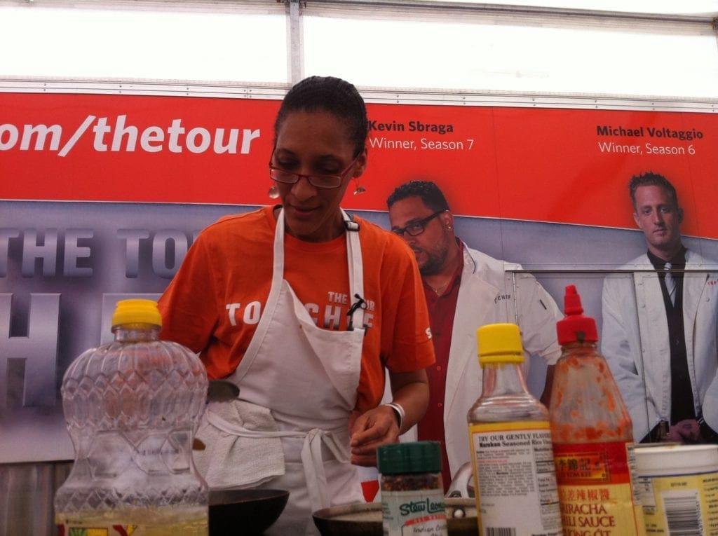Carla Hall @ Top Chef Tour in Eastern Market Washington DC
