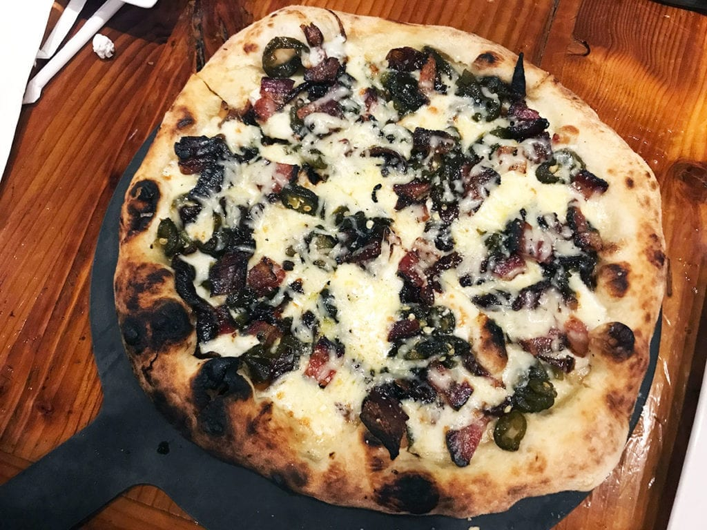 Hot Mess Pizza from Frankly Pizza in Kensington Maryland