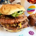 DBL PLNT Burger at PLNT Burger in Downtown Silver Spring Maryland