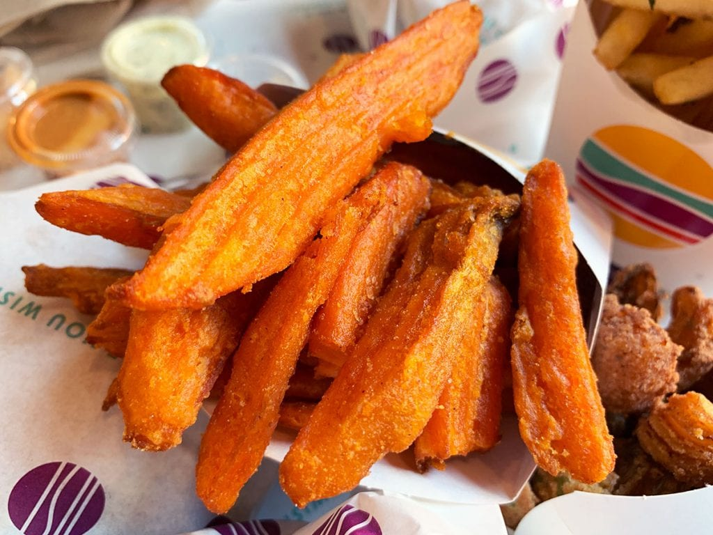 Sweet Potato Fries at PLNT Burger in Downtown Silver Spring