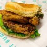 Double Patty Fried Chicken Sandwich @ PLNT Burger