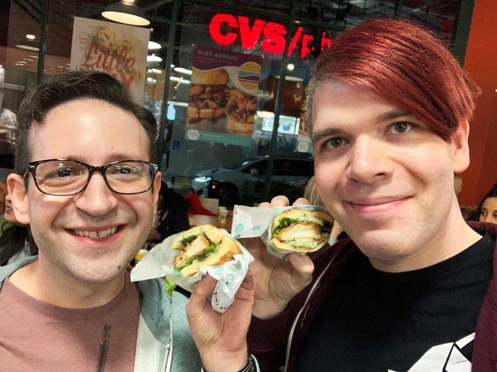 Taste Test Friend Chicken Sandwich from PLNT Burger in Downtown Silver Spring Maryland