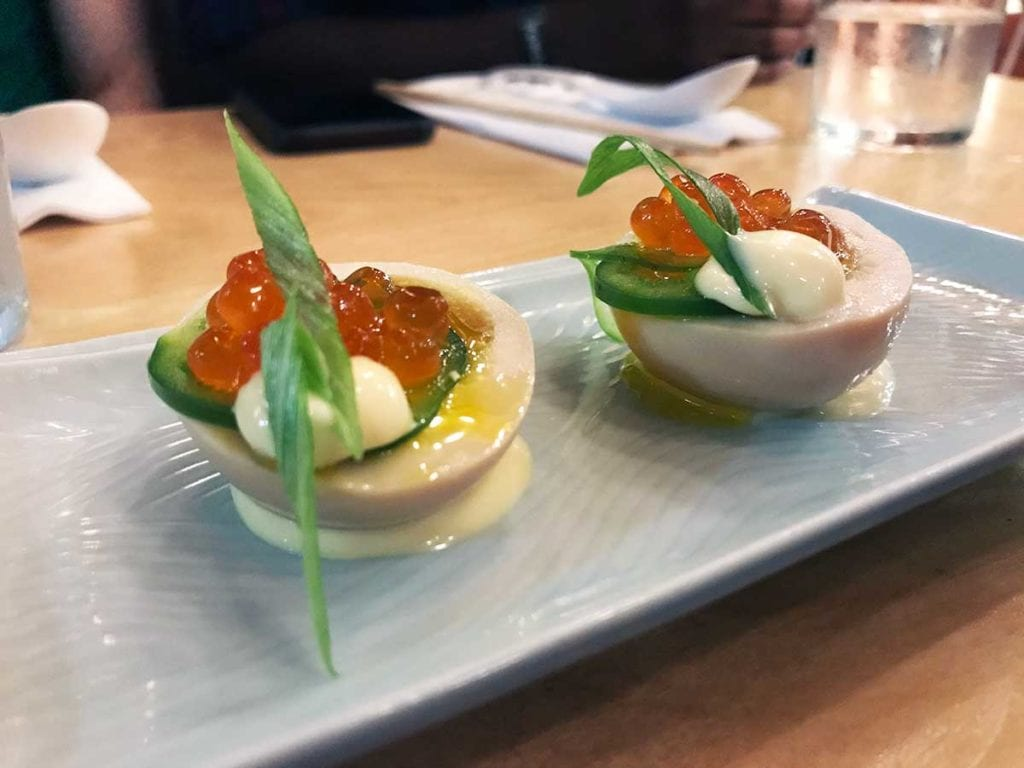 Japanese Deviled Eggs from Haikan in Shaw Washington DC