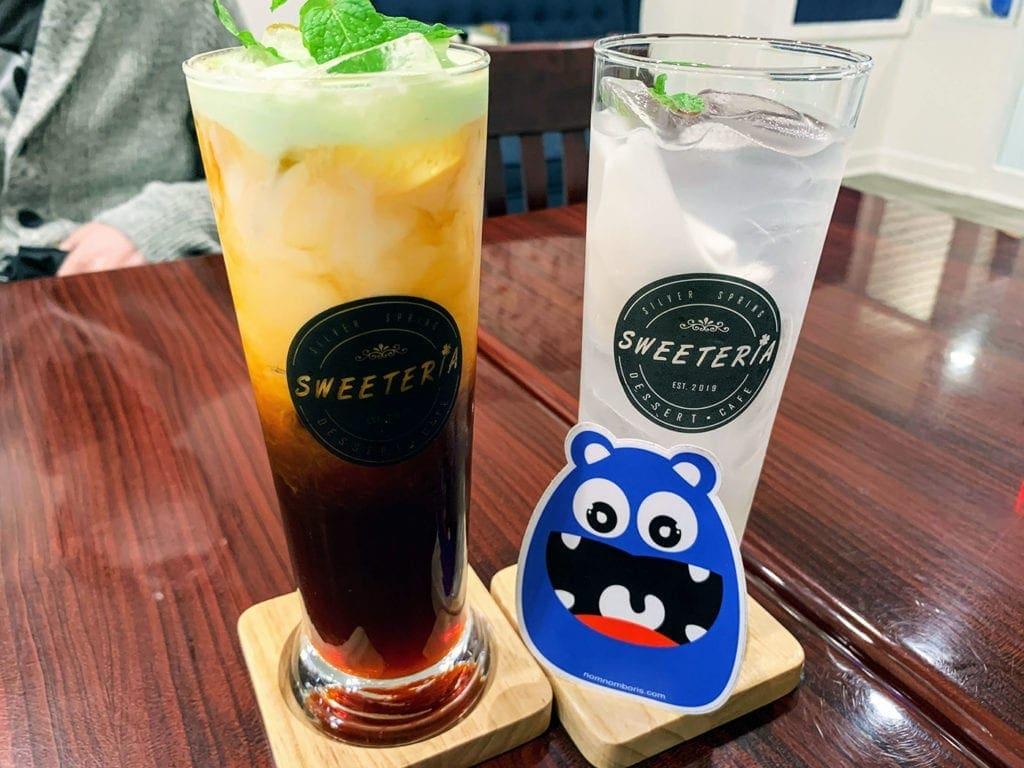 Thai Tea Pandan Float at Sweeteria, Downtown Silver Spring Maryland